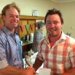 Hugh Ainslie- winner of the Champion of the Yard Prize and Fat Cow Prize