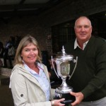 2013 Weaner Competition Winner Wallo Currie presenting the Trophy to the New winner of 2014 Elizabeth Klopper