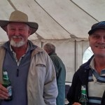 Darryl Fetting (L) and Owen Green (R) enjoying a cold beer