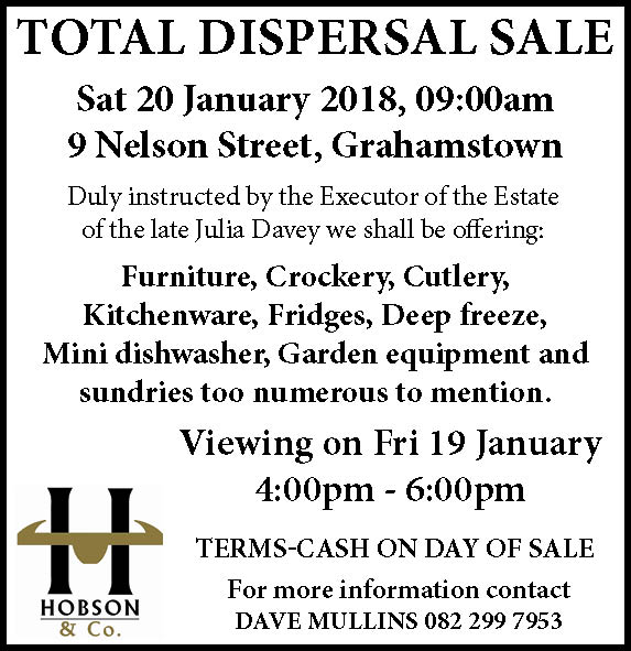 Julia Davey Dispersal Sale