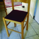 6 bar stools, burgundy upholstery to match dining room suite