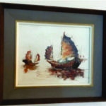 Oil painting chinese junk