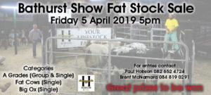Bathurst Show Sale