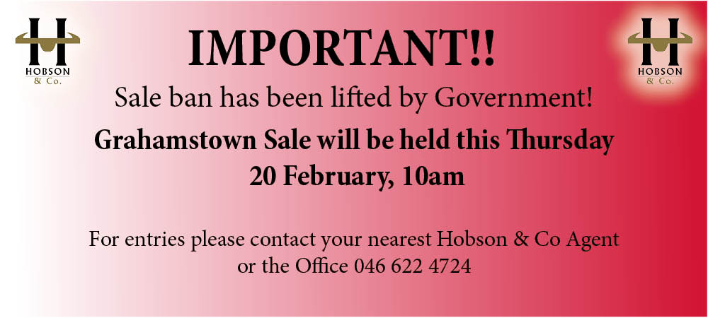 Grahamstown sale Ban